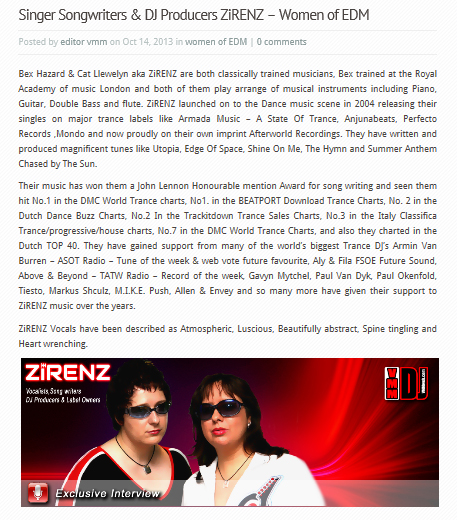 VMM Press Zirenz Women of Dance October 2013