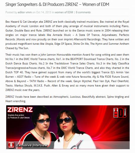 VMM Press Zirenz Women of Dance October 2013
