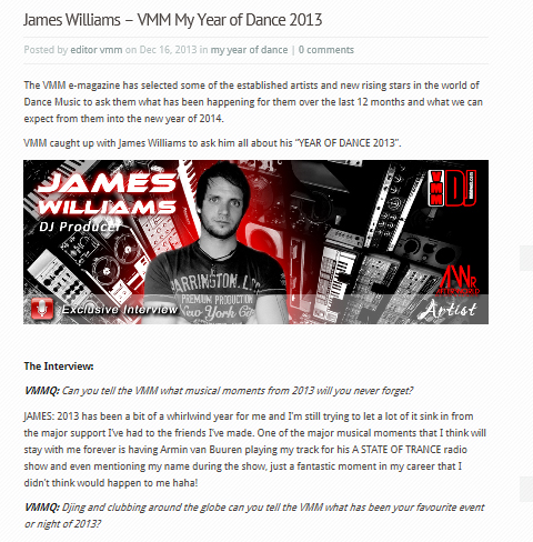 VMM  James Williams Dec 2013