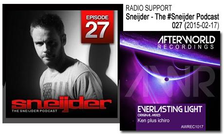 radio Podcast 027#  support from Snijeder ken plus ichiro Everlasting light
