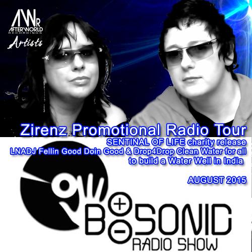 Zirenz Promotional Radio Tour  AUG 2015 B-SONIC Radio