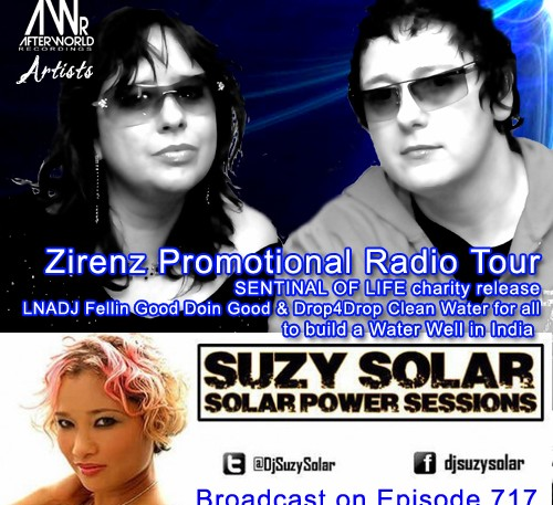 Zirenz Promotional Radio Tour SUZY SOLAR SOLAR POWER SESSIONS Radio show 717