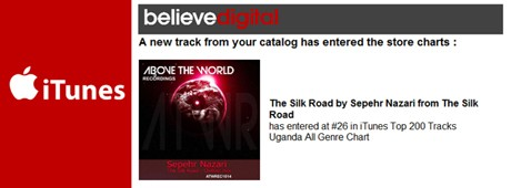 The Silk Road by Sepehr Nazari atwr #26 itunes charts Uganda 460x jpg